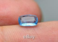 0.50 CRT extremely rare Fluorescent Neon blue Afghanite cut gemstone@Afghan