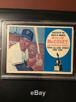 1960 Topps Willie McCovey Rookie #316 PSA 6 Ex-Mt BLUE VARIATION EXTREMELY RARE