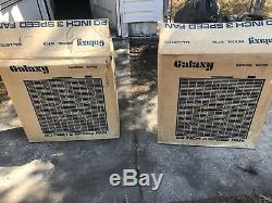 1980-1981 Galaxy Model 6713 Blue Blade Box Fan 20 Lot Of 2! Extremely Rare