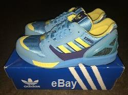 2004 Adidas Torsion Zx 8000 Aqua/yellow Brand New Size 8 Extremely Rare