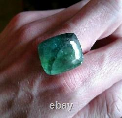 36.25 Huge natural Bi Color Blue/Green Tourmaline Untreated extremely rare