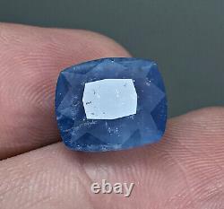 6.60 CT Extremely Rare Blue Alkali Beryl Top Cut Gemstone Afghanistan Badakhshan