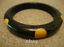 AWESOME Vintage Blue Moon Six Dot Bakelite Bracelet! An Extremely Rare Beauty