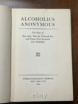 Alcoholics Anonymous First Edition 3rd Print 1942 Blue Extremely Rare