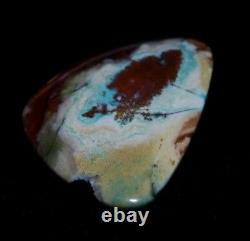 All Natural Blue Opal Petrified Wood Copper Heart Shape 54.95 CT Extremely Rare