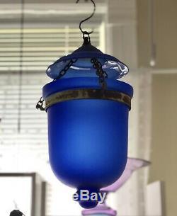 Antique Bell Jar Lantern OLD Chandelier 1800s Lighting Extremely RARE
