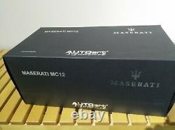 Autoart 118 1/18 Maserati MC12 Pearl White Blue 75801 Extreme Rare Diecast