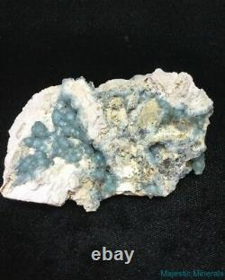 BEAUTIFUL NEW FIND LARGE EXTREMELY VERY, VERY RARE BLUE Wavellite Arkansas