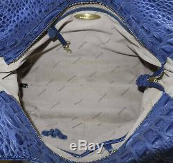 BRAHMIN Extremely Rare INDIGO TRAMER HAND WOVEN DAGNY (ELISA) SHOULDER BAG EUC