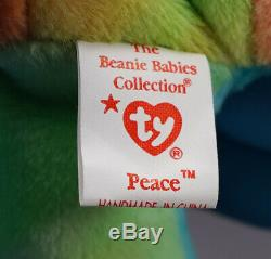 Beautiful Pajama Peace Beanie Baby Extremely Rare Blue Beanie Babies