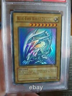 Blue-Eyes White Dragon SDK-001 New 1st Edition PSA 7 Near Mint Extremely Rare