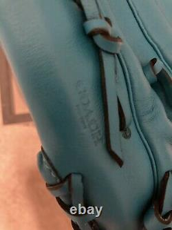 Brand New With Tags Extremely Rare Coach Turquoise Leather Baseball Glove 55699