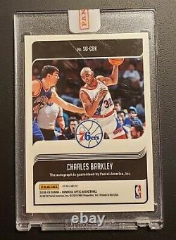 Charles Barkley BLUE PRIZM AUTO! NUMBERED 1 OF 8! EXTREMELY RARE MINT