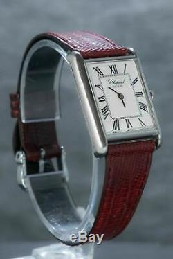 Chopard Tank Men's Dress-watch Extremely Rare Find in Stainless steel Ref5221