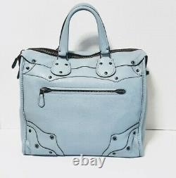 Coach Rhyder 33 Soft Leather XL Bag baby PALE BLUE EXTREMELY RARENEW! 33934