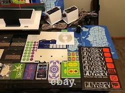 Complete & Working Magnavox Odyssey with Extremely Rare Apex Blue Card & More