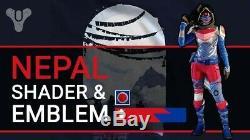 Destiny Nepal T-Shirt, Shader & Emblem! Extremely Rare