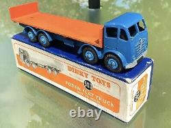 Dinky Supertoys Foden 503 Extremely Rare French Blue And Burnt Orange Boxed