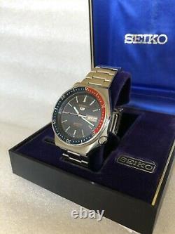 EXTREME RARE VTG! Seiko 5 Sports Automatic 6309-836A 1970s Pepsi Diver PRISTINE