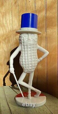 EXTREMELY RARE 1950s Red White & Blue Mr. Peanut Planters Peanut Plastic Toy Bank
