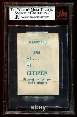 EXTREMELY RARE 1970 Novedades Crack Mexico 70 BLUE Back Pele BVG 1.5