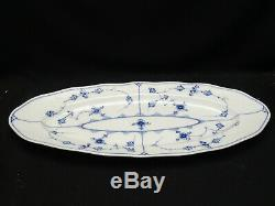 EXTREMELY RARE 19c. ROYAL COPENHAGEN BLUE FLUTED 24 OVAL FISH PLATTER 105