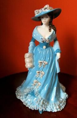 EXTREMELY RARE COALPORT Figurine Emma Hamilton in Blue Colorway