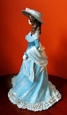 EXTREMELY RARE COALPORT Figurine Emma Hamilton in Blue Colorway