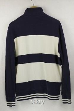 EXTREMELY RARE Mens YVES SAINT LAURENT Sweatshirt SPELL OUT ZIPPER Large P62