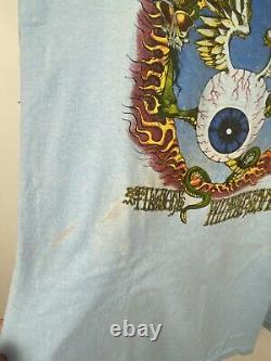 EXTREMELY RARE Vintage 1970s Jimi Hendrix Baby Blue Flying Eye Tee Shirt