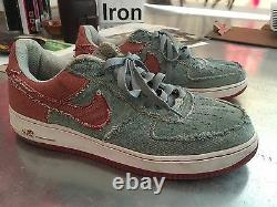 EXTREMELY RARE Vintage nike air force 1 Denim In Red And Blue