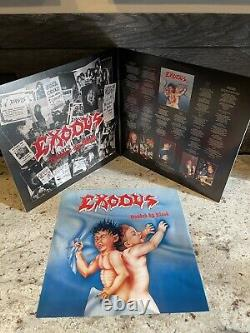 Exodus Bonded By Blood LP Translucent Blue Vinyl, Extremely Rare, Near Mint