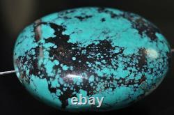 Extreme RareBlue HUBEI SPIDERWEB PORCELAIN TURQUOISE Fat Nugget Pendant L0951