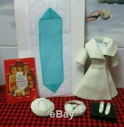 Extremely Rare 1966 Barbie Vtglondon Tour16617 Pc. Complete+mintblue Scarf