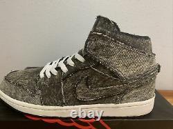 Extremely Rare 2013 Air Jordan 1 Mid Destroyed Denim Grey Bk 554724-023 Size 10