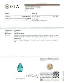 Extremely Rare Almost Flawless Natural Mozambique Paraiba Tourmaline 9.37 carats