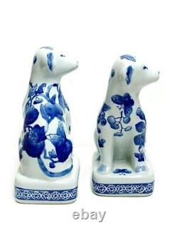 Extremely Rare Antique Clignancourt Porcelain Blue And White Dog Figurine