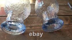 Extremely Rare Blue Iittala Timo Sarpaneva Kekkerit 3 Wine Goblets