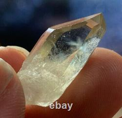 Extremely Rare Blue Mist Fire Citrine Natural Terminated Crystal Colorado