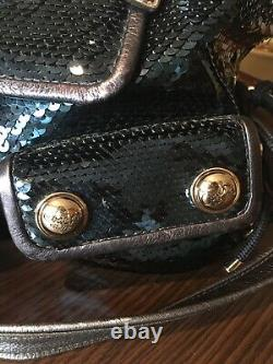 Extremely Rare! COACH Poppy Sequin Spotlight Tote Purse Bag in Blue Jean! 15383