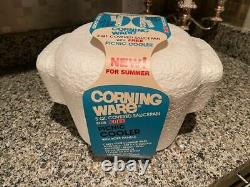 Extremely Rare Corning Ware A-3-CP Picnic Cooler Set Blue Cornflower Pattern