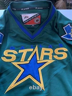 Extremely Rare Dallas Stars Royal Blue & Green Pro Player Jersey Mens XL Mint