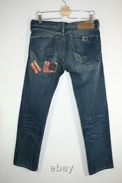Extremely Rare Denim Supply Ralph Lauren Flags Patchwork Jeans Slim Size 31 1967