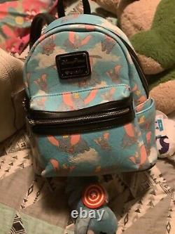 Extremely Rare Disney Parks Loungefly Baby Blue Dumbo mini backpack