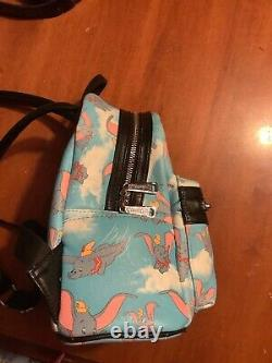 Extremely Rare Disney Parks Loungefly Baby Blue Dumbo mini backpack