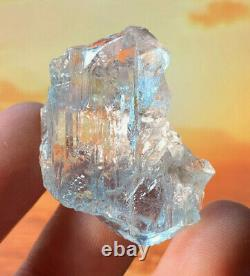 Extremely Rare Etched Blue Topaz Natural Crystal Madagascar Mt Ibity