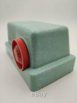Extremely Rare Green/Blue/Cream Beetled Plaskon Bakelite GE model C-401