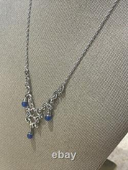 Extremely Rare James Avery Blue Lapis Sterling 925 Chandelier Necklace Retired