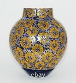Extremely Rare Japanese Enameled Glass Vase Pictured In Book (PIB)