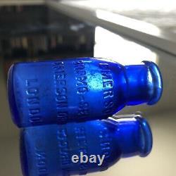 Extremely Rare London Bromo Seltzer Cobalt Blue